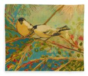 Two Goldfinch Found Fleece Blanket
