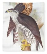 Two Goshawks Fleece Blanket
