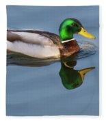 Two Headed Duck Fleece Blanket