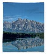 Two Jack Lake In The Morning Fleece Blanket