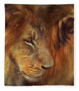 Two Lions Fleece Blanket