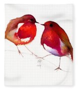 Two Little Birds Fleece Blanket