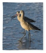 Two Marbled Godwits Fleece Blanket