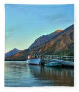 Two Medicine Boat Dock Fleece Blanket