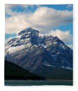 Two Medicine Lake And Rising Wolf Mountain Fleece Blanket