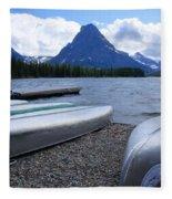Two Medicine Lake Fleece Blanket