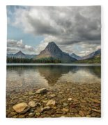 Two Medicine Lake Fleece Blanket