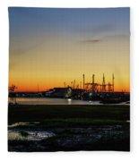 Two Mile Landing At Sunrise - Wildwood Crest New Jersey Fleece Blanket