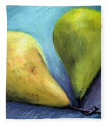 Two Pears Still Life Fleece Blanket