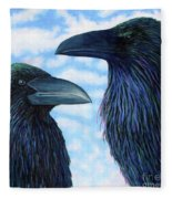 Two Ravens Fleece Blanket