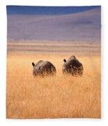 Two Rhino's Fleece Blanket