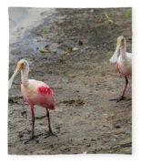 Two Roseate Spoonbills 2 Fleece Blanket