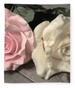 Two Roses Fleece Blanket
