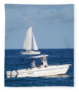 Two Ships That Pass Thru The Day Fleece Blanket