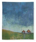Two Sisters Houses Fleece Blanket
