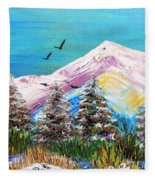 Two Soaring Birds Fleece Blanket