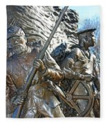 Two Soldiers Of The The African American Civil War Memorial -- The Spirit Of Freedom Fleece Blanket