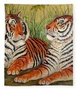 Two Tigers Fleece Blanket