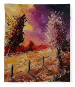 Two Trees Waiting For The Storm Fleece Blanket