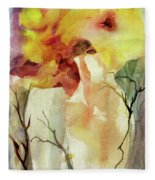 Two Vases Fleece Blanket