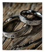 Two Wedding Rings With Celtic Design Fleece Blanket