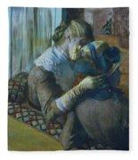 Two Women Fleece Blanket