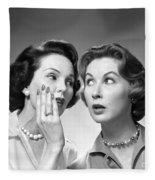 Two Women Gossiping, C.1950-60s Fleece Blanket