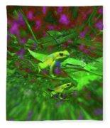 Two Yellow Frogs Fleece Blanket