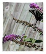 Two Zebra Swallowtail Butterflies Fleece Blanket