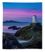 Twr Mawr, Anglesey Fleece Blanket