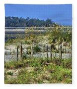 Tybee Island Inlet Fleece Blanket