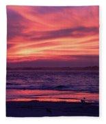 Tybee Island Sunset Fleece Blanket
