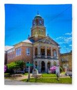 Tyler County Courthouse Fleece Blanket