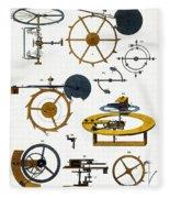 Types Of Clock Mechanism, 1810 Fleece Blanket