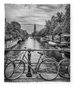Typical Amsterdam - Monochrome Fleece Blanket