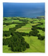 Typical Azores Islands Landscape Fleece Blanket