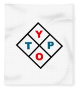 Typo Fleece Blanket