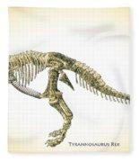 Tyrannosaurus Rex Skeleton Fleece Blanket