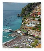 Tyrrhenian Sea Amalfi Coast Fleece Blanket