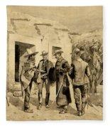 U. S. Cavalry Hunting Garza Men On The Rio Grande Fleece Blanket