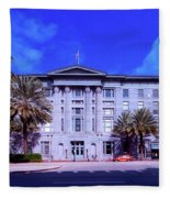 U S Custom House - New Orleans Fleece Blanket