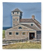 U S Lifesaving Station Fleece Blanket