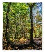 U Shaped Trees Cascade Mountain Ny New York Fleece Blanket