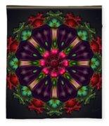 u028 Wholehearted Hibiscus Fleece Blanket