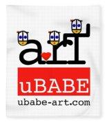 uBABE Art Wave Fleece Blanket