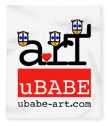 uBABE Art Wave Fleece Blanket