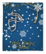 Ucla Bruins Christmas Card Fleece Blanket