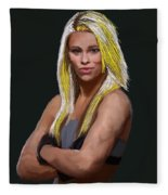 Ufc Fighter Paige Van Zant Fleece Blanket