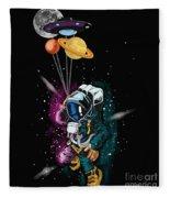 Ufo Astronaut Spaceshuttle Space Force Fleece Blanket