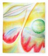 Ufo. Flight Through Time Fleece Blanket